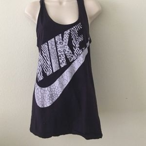 Nike Animal Print Purple Tank